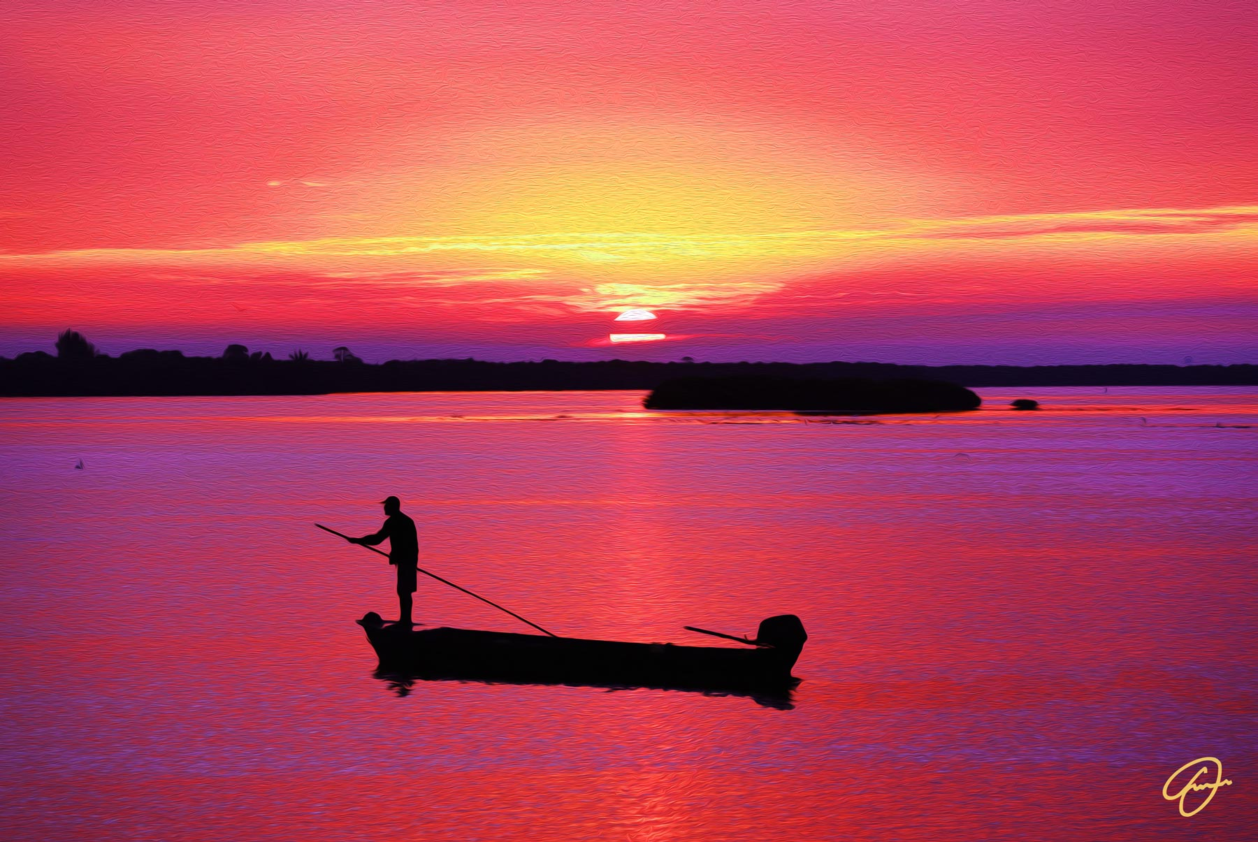 Rowing Towards the Sunrise